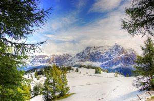 Cortina D'Ampezzo Dolomiti neve