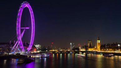 Londra Tamigi London Eye Città europee consigliate per Capodanno