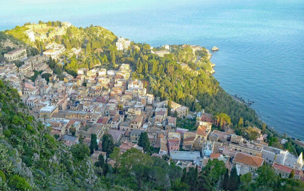 Taormina Sicilia vista panoramica